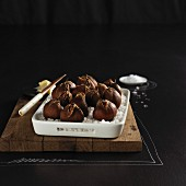Roasted chestnuts in sea salt