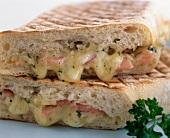 Ham, Cheese and Onion Panini