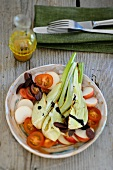 Marinated fennel with nectarines