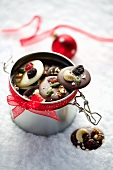 Christmas chocolate buttons