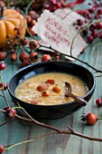 Squash and rosehip soup