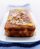 Lemon cake with poppy seeds