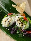 Crab rice paper rolls