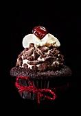 Celebration chocolate cupcake
