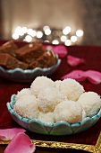 Indian Christmas coconut balls