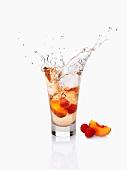 Peach and Raspberry drink