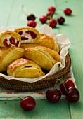 Fagottini con le ciliegie (cherry pastries, Italy)