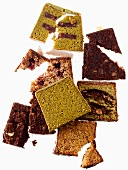 Slices of assorted dry cakes