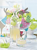 Lemonade on an Easter table