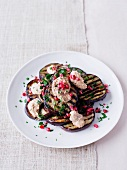 Eggplant salad with pomegranate seeds