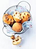 Sweet raisin rolls