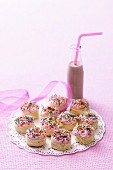Fairy scones and a bottle of chocolate milk