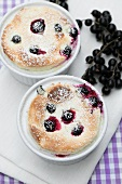 Quark soufflé with blackcurrants