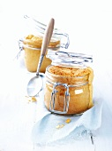 Madeira cakes, baked in storage jars