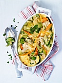 Vegetable bake with cauliflower and broccoli