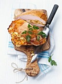 Stuffed turkey breast with olives and feta