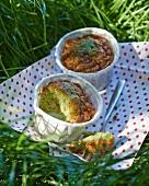 Pistachio soufflés for a picnic