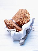 Healthy wholegrain bread in a bread basket