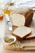 Bread with elderflowers