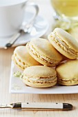 Macaroons filled with elderflower cream
