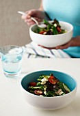 Vegetable Salad Single Serve - Sugarsnap Peas, Cannelini Beans, Mesclun Mix, Cherry Tomatoes, Feta, Basil