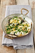 Trout fillet with herbs and lemon