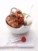 Fruity, spicy chicken wings