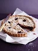 Christmas blueberry pie