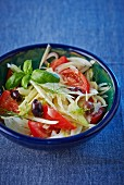 Fennel salad with tomatoes and olives