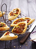 Turkish pizza boats