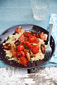 Couscous with three types of tomato