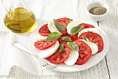 Serving of Caprese Salad