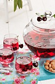 Cherry and amaretto punch