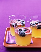 Pineapple-berry fizz