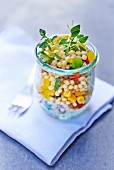Pearl barley salad with vegetables