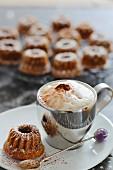 Cappuccino and a mini Bundt cake