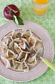Apple dumplings with nuts