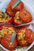 Stuffed tomatoes with rice & mushrooms