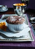 Chocolate soufflé with Cointreau