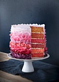 Amarena cherry layer cake