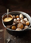 Potatoes cooked with sea salt, with aioli