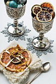 Dried citrus fruits as a Christmas decoration