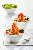 Tom Yum Soup With Shrimp - Thailand - Ingredients include Corriander, Lemon Grass, Lemon, Chili Pepper, Shrimp, Kafir Lime Leaf,