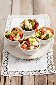 Ceviche with sundried tomatoes, avocado and celery