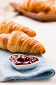 Croissants with jam
