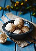 Vanilla and coconut truffles