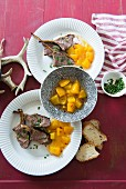 Lamb chops with mango chutney for Christmas