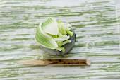 Wagashi hydrangea, a Japanese sweet