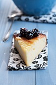 Cheesecake with honeyed blackberries
