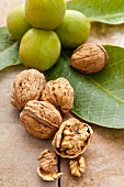 Walnuts (green, whole, shelled and cracked)